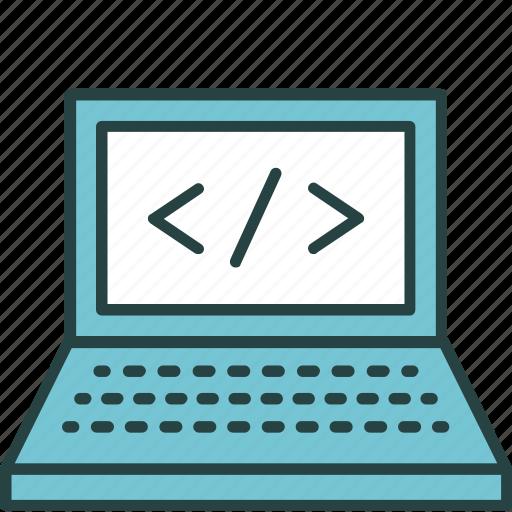 coding, computer, development, process, program, programming, tags icon