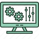 configuration, design, development, interface, monitor, preferences, programming icon