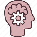 brain, head, thinking, creativity, imagination, invention, technology icon