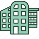 architecture, building, city, construction, house, office, project icon