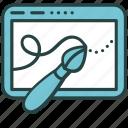 artwork, brush, design, digital, drawing, graphic, tablet icon