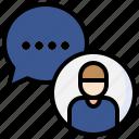 chatting, users, conversation, communications, speech, bubble