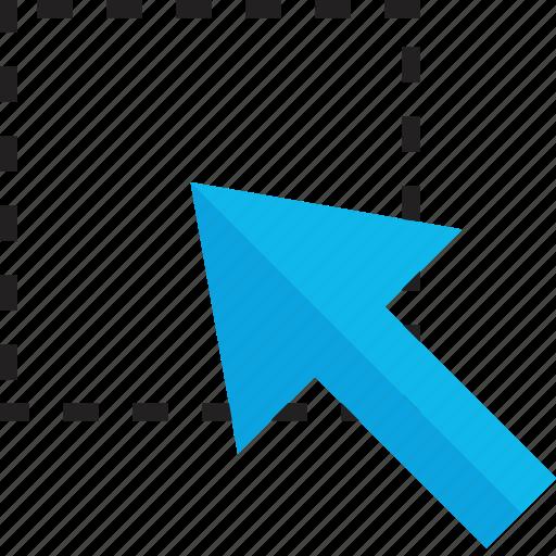 click, create, drag, web icon