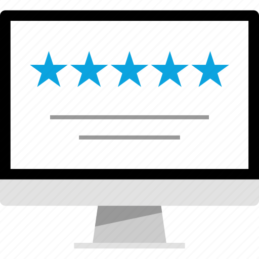 five, rating, star, web icon