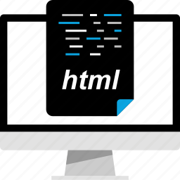 document, file, html, online icon