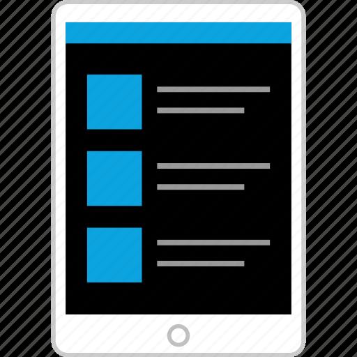 ipad, pad, tablet, tech icon