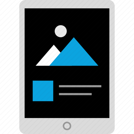 gallery, ipad, photo, tech icon