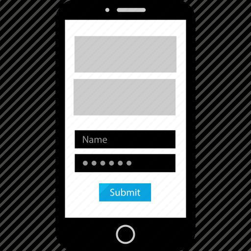 design, form, mobile, web icon