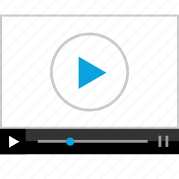 music, player, screen, video icon