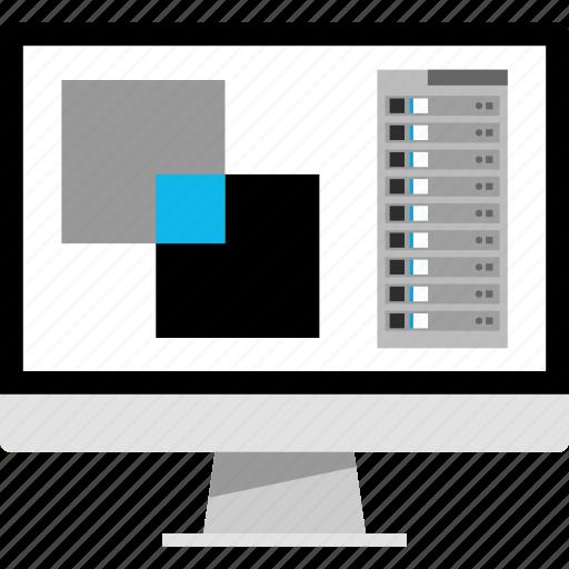 create, illustrator, layers, photoshop icon