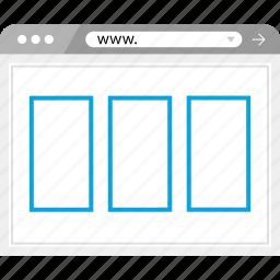 broswer, mockup, responsive, web icon