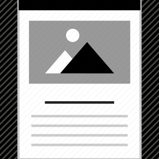 design, gallery, page, web icon