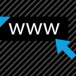 click, online, web, www icon