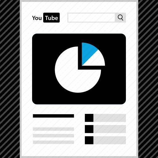 analytics, seo, web, youtube icon