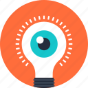 bulb, creativity, eye, idea, imagination, inspiration, light icon
