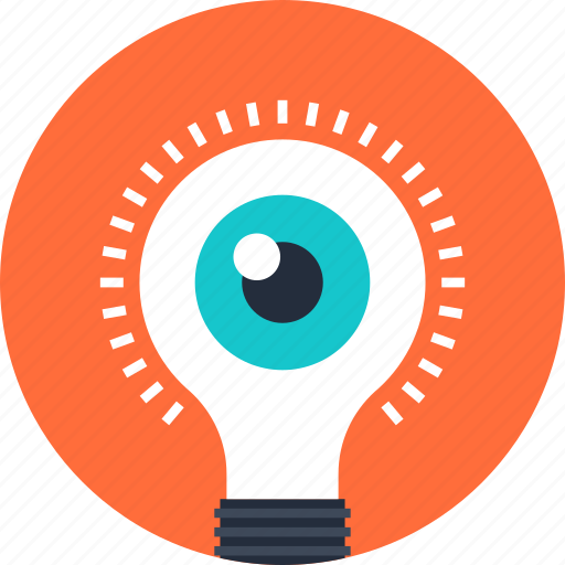 bulb, creativity, eye, idea, imagination, inspiration, light icon