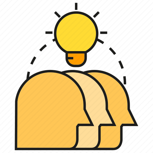 brainstorm, creative, head, idea, light bulb, smart, thinking icon