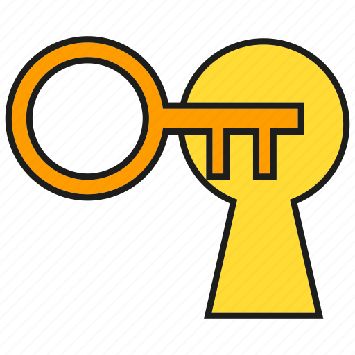 key hole, lock, secret icon