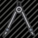compass, divider, measurement, engineering
