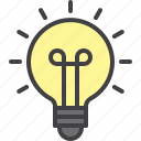 light, bulb, idea, lamp