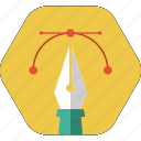 design, draw, graphic design, pen tool, trace icon icon