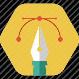 design, draw, graphic design, pen tool, trace icon icon