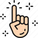 business, clean, click, creativity, cursor, hand, line icon