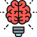 brain, bulb, creative, creativity, idea, innovation, light icon