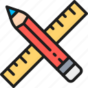 art, business, creativity, finance, pencil, project, ruler icon