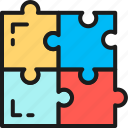 compatibility, creativity, game, problem, puzzle, solution, solving icon