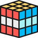 business, creativity, cube, line, mechanical, puzzle, toy icon