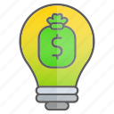 business, cash, creativity, finance, idea, intelligence, knowledge icon