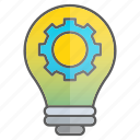 creativity, development, gear, idea, knowledge, mechanic, setting icon
