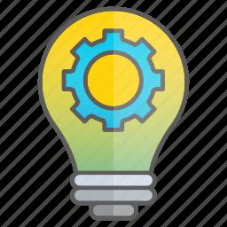 creativity, development, gear, idea, knowledge, mechanic, setting icon