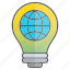 business, creativity, globe, idea, intelligence, knowledge, world icon