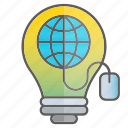 business, creativity, idea, intelligence, internet, knowledge, science icon