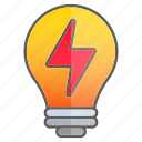 creativity, idea, intelligence, knowledge, lightning, science icon