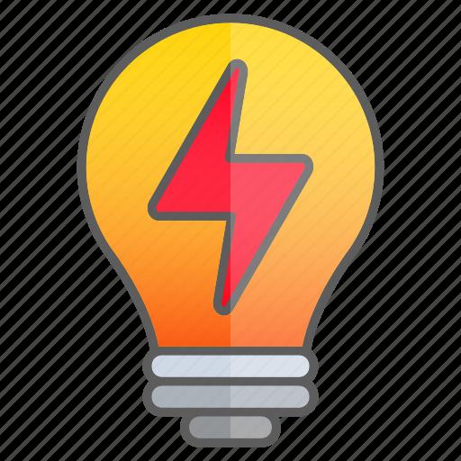 creativity, idea, intelligence, knowledge, lightning, science icon