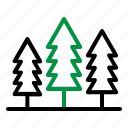 camping, forest, nature, trees icon