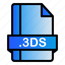 3ds, extension, file, format