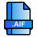 file, extension, format, aif icon
