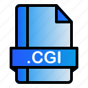 cgi, extension, file, format icon