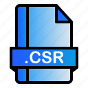 file, extension, format, csr icon