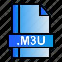 extension, file, format, m3u