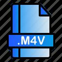 extension, file, format, m4v