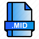 extension, file, format, mid