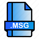 extension, file, format, msg icon