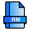 extension, file, format, rm