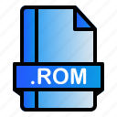 extension, file, format, rom icon