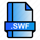 extension, file, format, swf